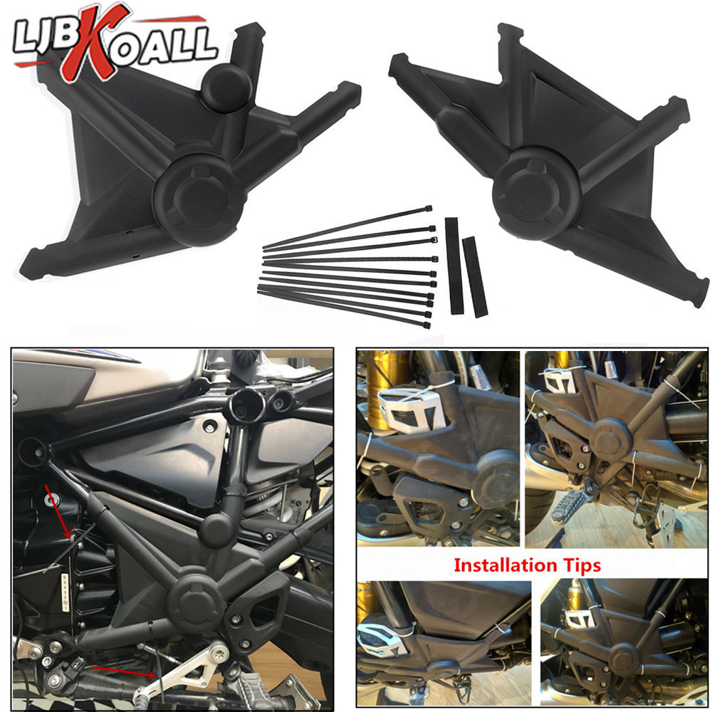 Matte Black Motorcycle Right Left Full Frame Guard Protector Cover for BMW R1200GS LC R 1200