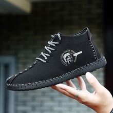 Shoes 2018 New Spring Fashion Retro Leisure Black Shoes Men Classic Moccasin Shoe Silp On Soft Youth Male Casual Driving Shoe