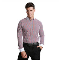 JeeToo Striped Smart Casual Mens Shirts Long Sleeve Cotton Plus Size Men Clothing 2018 Slim Fit
