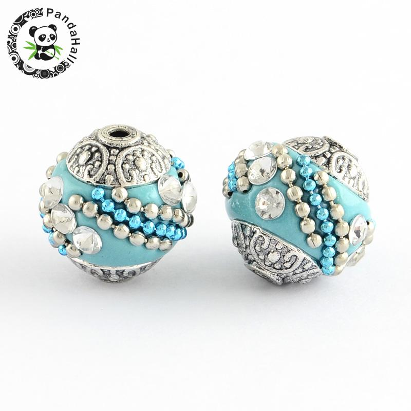 10pcs round handmade indonesia loose elegant jewelry for Unique stones for jewelry making