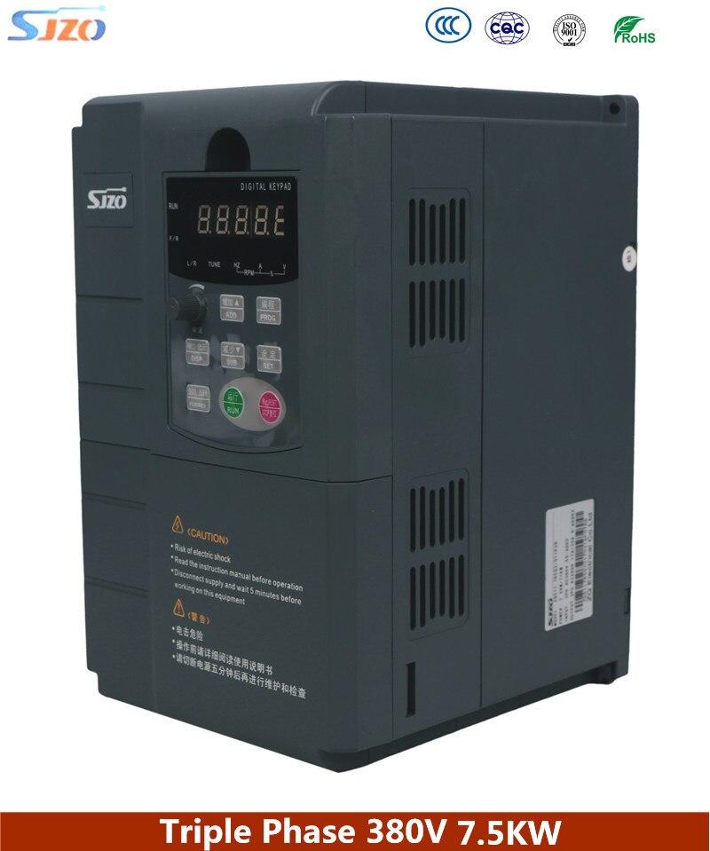 SJZO 511 série électrique général vecteur industriel AC entraîne moteur régulateur de vitesse 7.5KW 380 V 3 phases Variable fréquence inverti