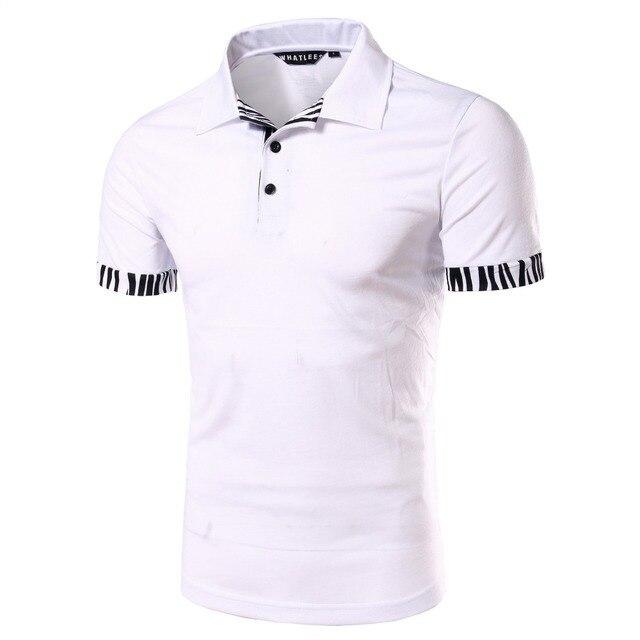Новый Белый Рубашки Поло 2016 Мужская Сплошной Цвет Slim Fit Рубашки поло Случайные Бренд С Коротким Рукавом Поло Дышащий Поло Homme марка