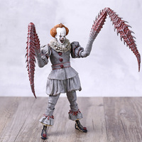 NECA 4 It Pennywise the Dancing Clown Delux Joint Movable Action Figure Toy