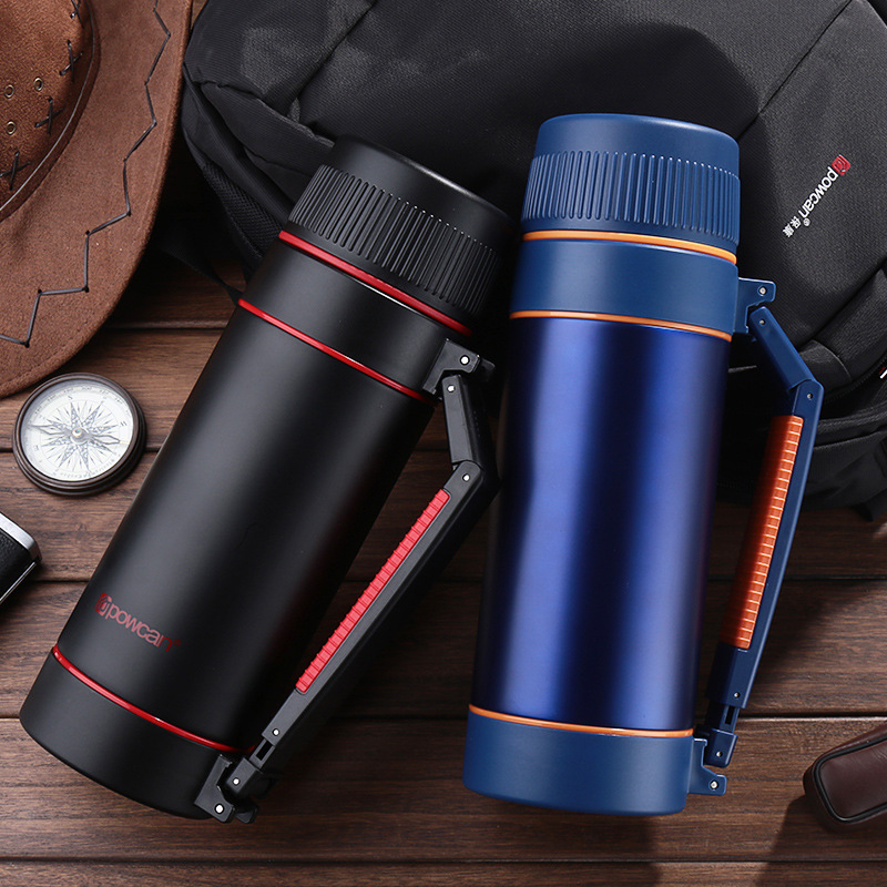 Travel 304 Stainless Steel High Capacity 2000ML Thermos Mug Cap Coffee Tea Food Bottle Swig Wine Cups Outdoor Household