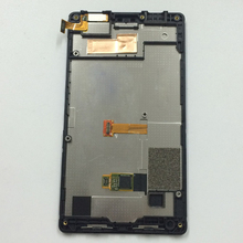 Full Black Touch Screen Digitizer Sensor Glass + LCD Display Monitor Panel Assembly + Frame For Nokia X2 Dual Sim X2DS RM-1013