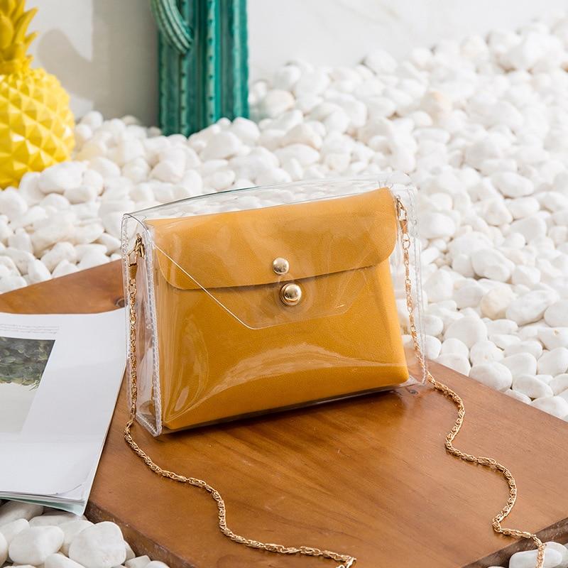 Transparent Shoulder Bags Women Mini Bags Purse Handbags Crossbody Bag Clutch Phone Purse Bag Borsa Donn Feminina Sac A Main 107