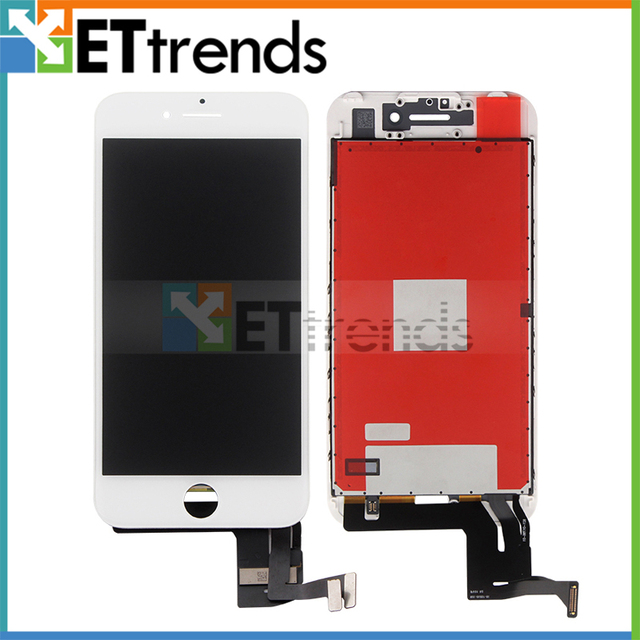 2PCS/LOT No Dead Pixel  LCD Touch Screen Assembly Replacement For iPhone 7 Black & White DHL Free Shipping