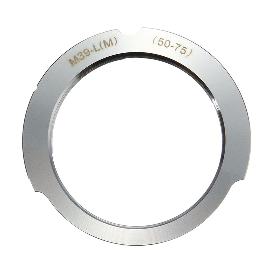 Camera Lens Mount Adapter 50-75mm For Leica Thread Screw Mount M39-L(M) LSM LTM