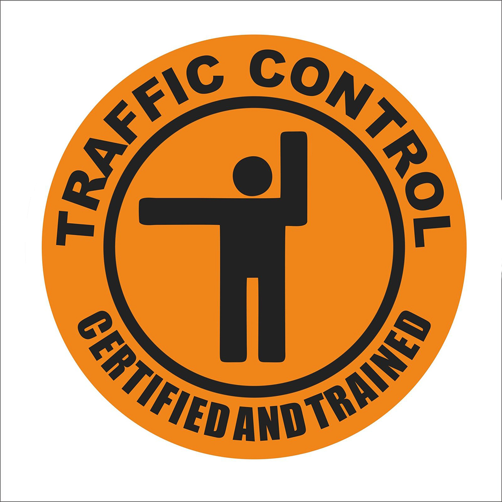 Traffic Control Vinyl Hard Hat Car Truck Sticker Helmet Decorative Personality Accessories Decoration in Car Stickers from Automobiles Motorcycles