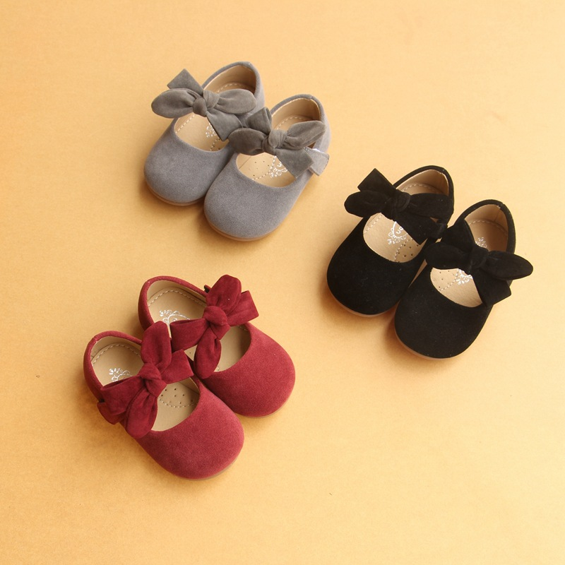2019 Baby Girls Shoes Princess Flats Cute Butterfly-knot Princess Shoes Children Girls Single Shallow Leather Shoes