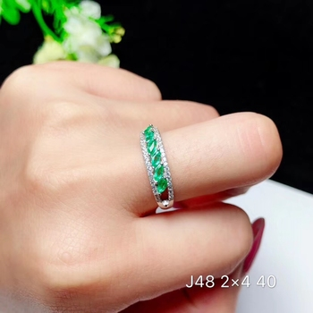 classic green emerald gemstone ring for women jewelry 925 sterling silver natural real gem girl birthday engagement ring gift