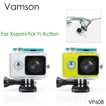 Vamson for Xiao mi for Yi Blue 45M Underwater Diving Sports Waterproof Box Protective Case For Xiaomi for yi Action camera VP608