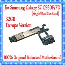 100% Original Unlocked Main Motherboard Replacement For Samsung Galaxy S7 G930F