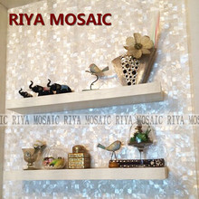где купить Free Shipping RIYA natural shell Mother of Pearl mosaic tiles Pure white 20mm No gap background wall Smallpox Bar 11pcs/lot по лучшей цене