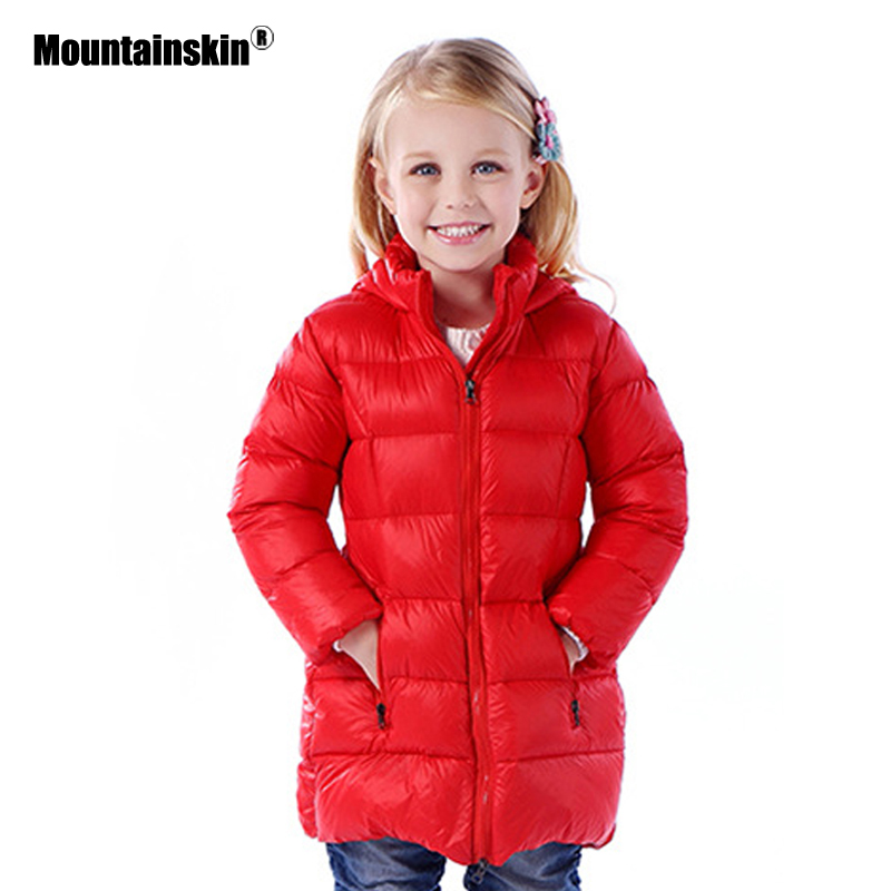 2017 Winter Thick Children's Jackets Girls Down Parkas 12M-6Y Hooded Girl's Long Coats Warm Jacket For Kid Outwear Outdoor SC658 winter coats girls down jacket for boys parkas long glasses models kids hooded jackets thick warm ski children outwear clothes