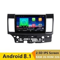 10 2+32G 2.5D IPS Android 8.1 Car DVD Multimedia Player GPS for Mitsubishi Lancer 2008 2009 2016 car radio stereo navigation