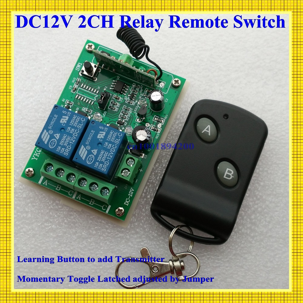 315/433MHZ 12V 2CH Radio Frequency  wireless remote control switch system receiver board & transmitter remote controller 100Unit 315 433mhz 12v 2ch 6 transmitter