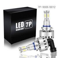 2pcs Auto Headlight Bulbs Universal Car Headlight LED Bulbs 90W Headlight Kit Bulbs Replace Halogen Lamp 6000k 7P COB