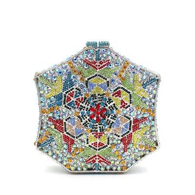 Femmes fleur cristal sacs bleu or mariage embrayage sacs à main portefeuilles luxe soirée embrayages diamant fête sac bleu sacs à bandoulière