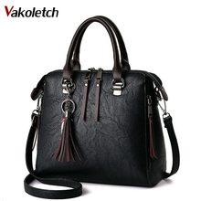 Soft pu leather Women Shoulder Bag Female Tassel Pendant Women Handbag Double zipper Large Women Messenger Bags Sac KL209