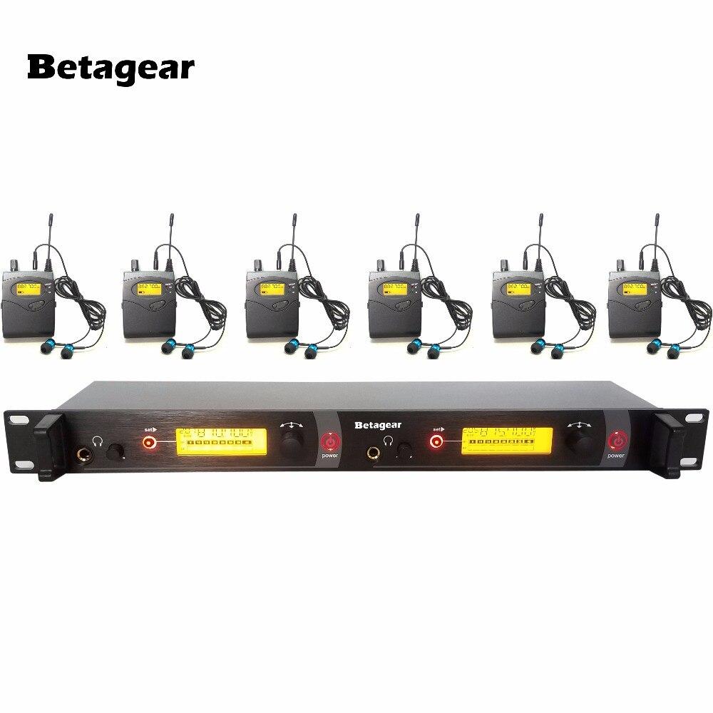 SR2050 UHF живой звук Беспроводной вкладыши аудио Мониторы Системы + наушники 6 приемники этап Sound System Professional в микрофон