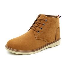 MIUBU Men Boots 2019 Autumn Winter Ankle Fashion Footwear Lace Up Shoes High Quality Vintage Casual