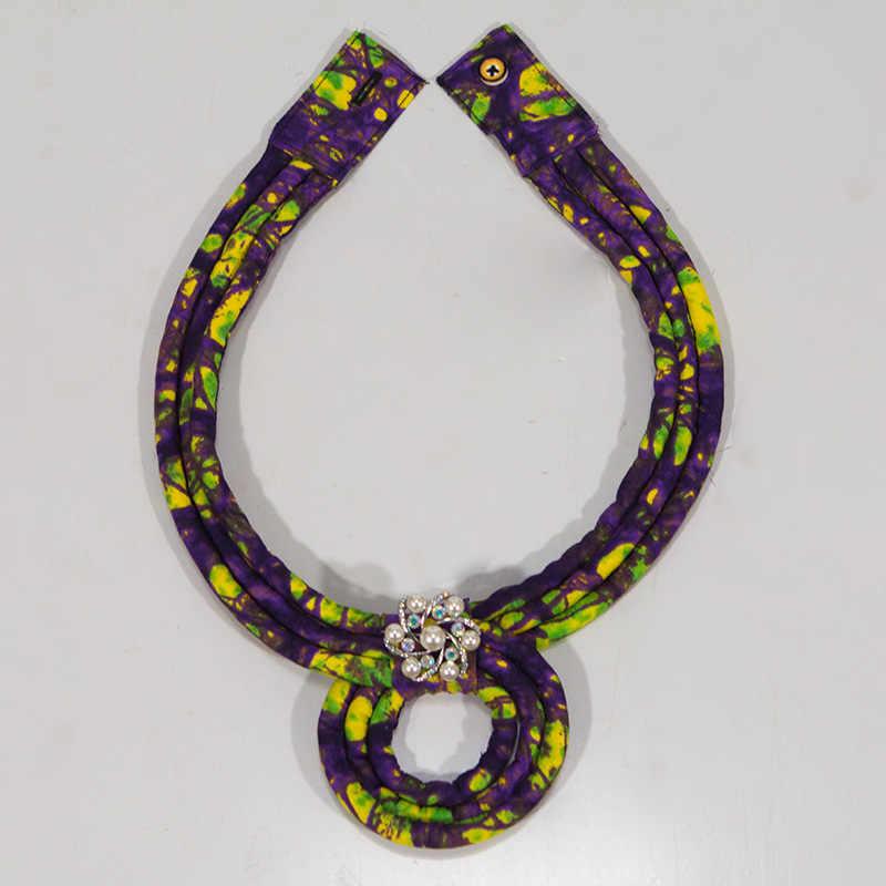 Thời trang Châu Phi Dây Vòng Cổ In Ankara Dây Vòng Cổ In Châu Phi Dân Tộc Handmade trang sức Châu Phi vải trang sức Nữ WYB111