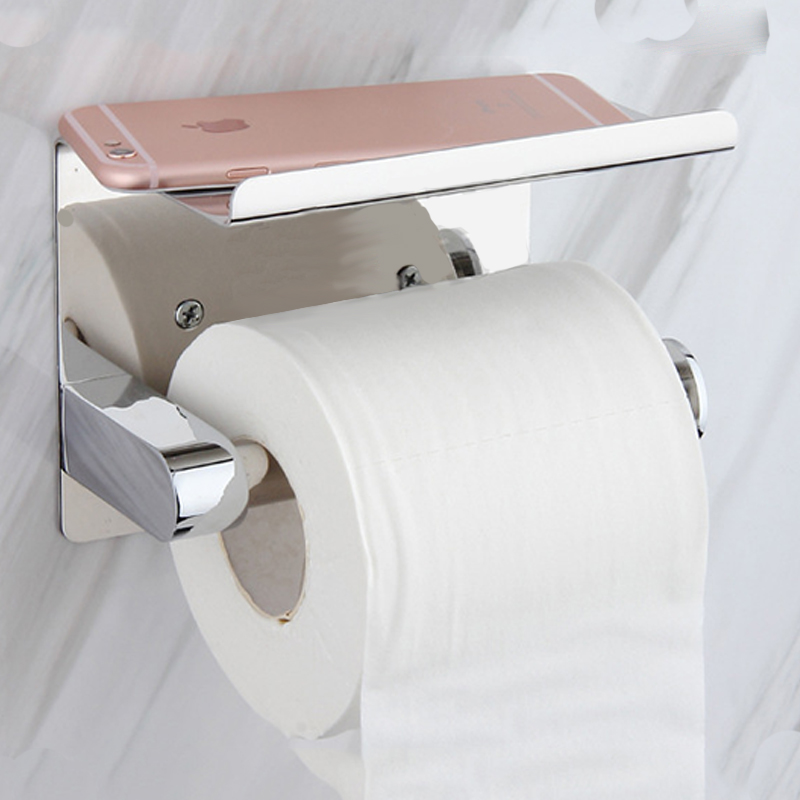 Back To Search Resultshome Improvement Nice Toilet Paper Holder Kitchen Bathroom 3m Stick Suction Cup Toilet Paper Holder Papel Higienico Stainless Steel Polished Finished Lustrous