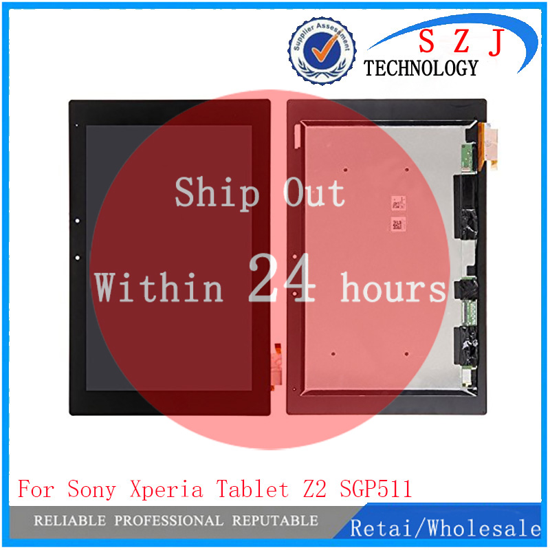 New 10.1'' inch For <font><b>Sony</b></font> <font><b>Tablet</b></font> <font><b>Xperia</b></font> <font><b>Z2</b></font> SGP511 SGP512 SGP521 SGP541 <font><b>LCD</b></font> display with touch <font><b>screen</b></font> assembly free shipping image