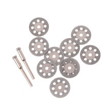 Zlinkj 10 Pcs Aksesoris Diamond Grinding Wheel Mini Circular Saw Cutting Disc Diamond Abrasive Disc Dremel Alat Putar 20 Mm(China)