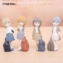 4color Fashion Girl Beauty Figurine Workplace Desk Decor Resin Ornaments Kids Gift Statues Miniature Figurines Home Decor(China)