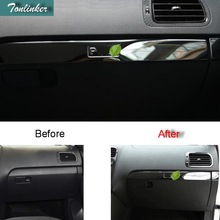 1 PCS DIY New Stainless steel Car styling Handbrake panel decorative light box cover For Volkswagen vw POLO parts accessories 1 pcs diy new polyester car styling blackout front dashboard mat pad cover case for volkswagen vw new polo parts accessories