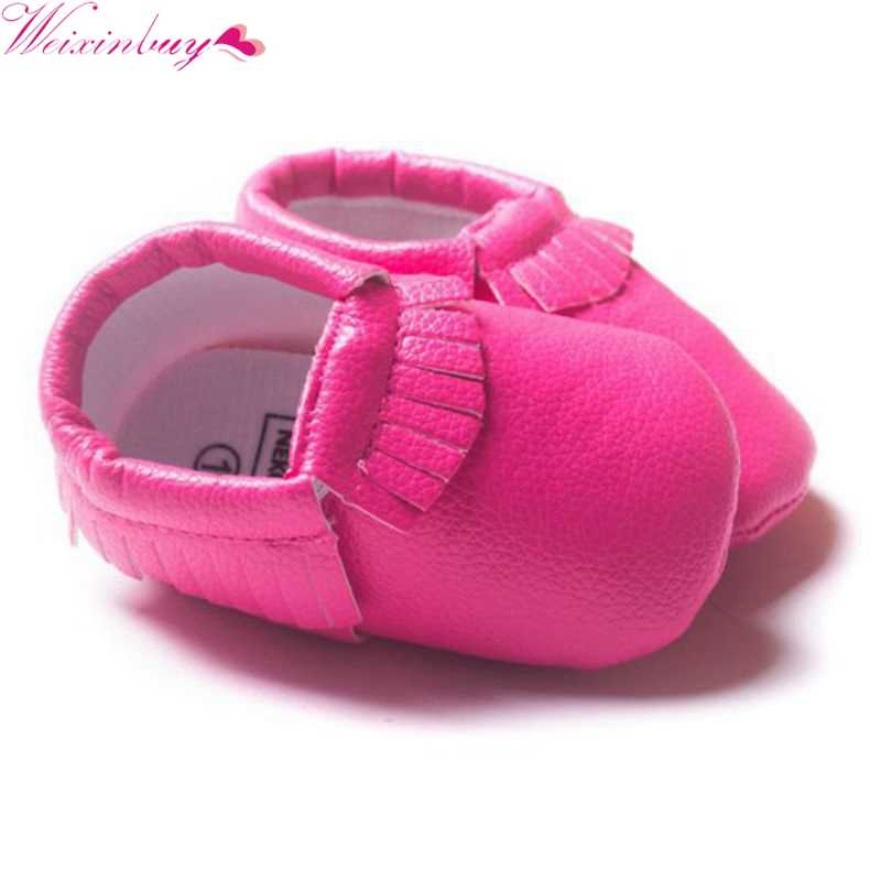 Girls Princess Shoes Newborn Toddler Shoes 2018 New Infant Soft Sole PU Leather Shoes Baby Shoes Cute First Walkers Moccasin M2
