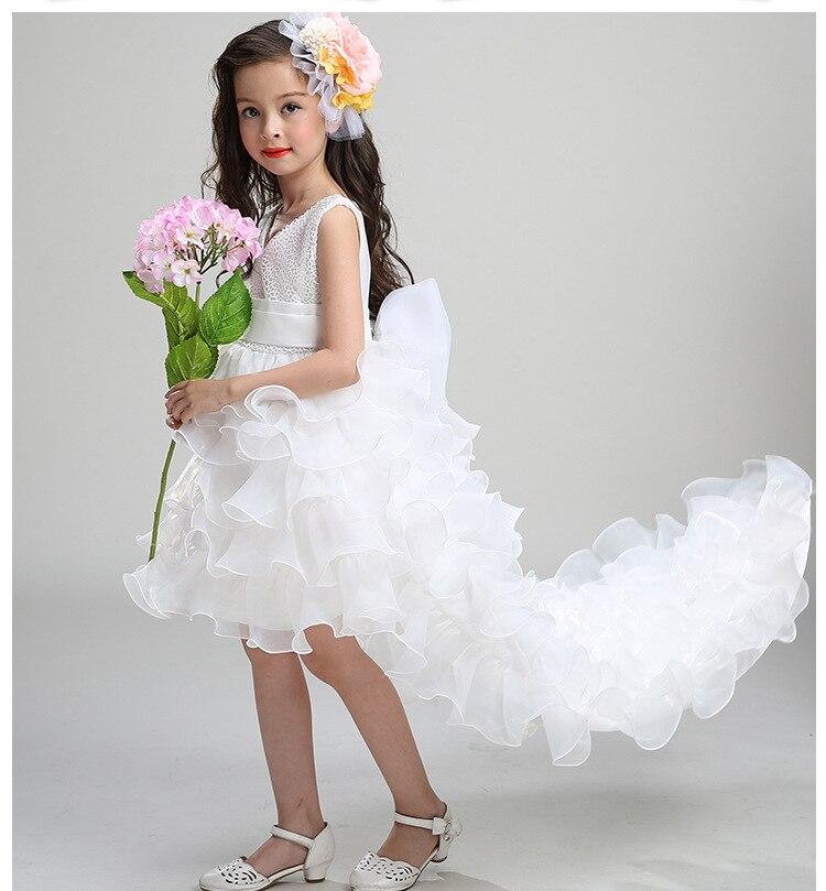 b30617f0b 3 14T flower girl Trailing wedding dresses Girl high quality Tutu ...