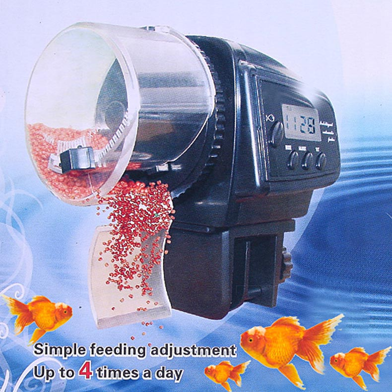 Hot sale digital lcd automatic aquarium tank auto fish for Bottom feeder fish list