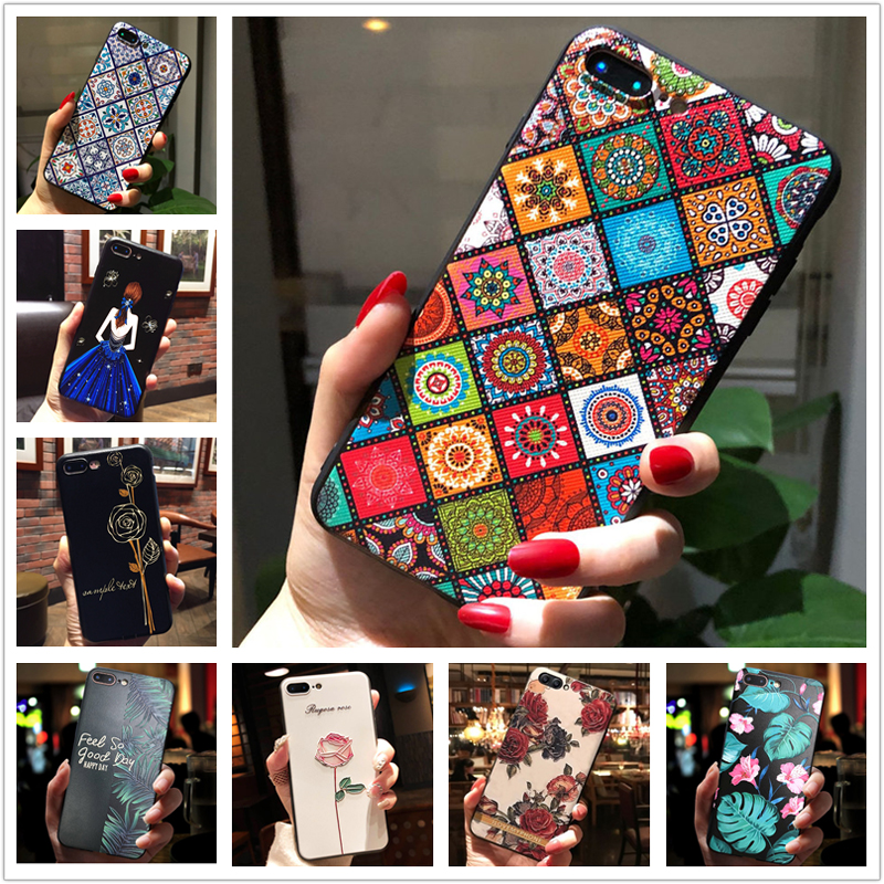 <font><b>Flower</b></font> Emboss <font><b>Case</b></font> For <font><b>Samsung</b></font> <font><b>A70</b></font> Phone <font><b>Case</b></font> Soft Silicon Back Cover For <font><b>Galaxy</b></font> A10 A20S A20 A30 A40 A50 A30S A50S A10S A51 image