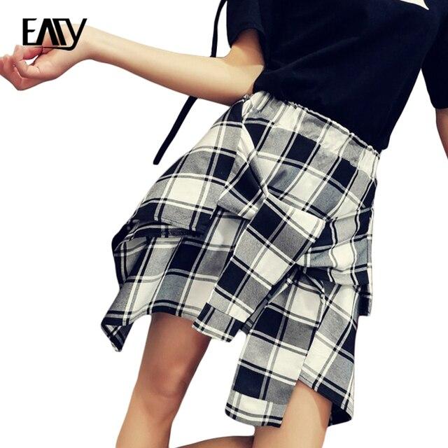 Uniforme a cuadros Faldas Corea Moda Estilo Preppy Falda Plisada Mujeres  Rojo de la Tela Escocesa c3621999f83f