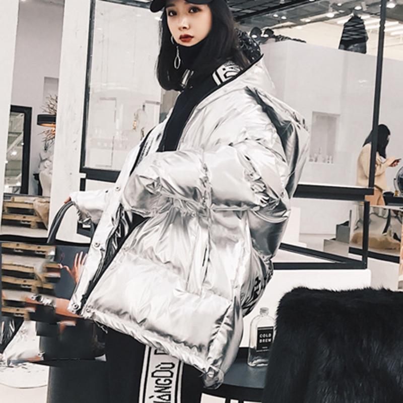 Femmes Mode Nouvelles Femelle Parka Solide Long 2018 xitao Lyh2231 silver Manches Hiver Paillettes Red Couleur Manteau Plein De Corée Lyh2231 Lettre Imprimer tEqwOnBI