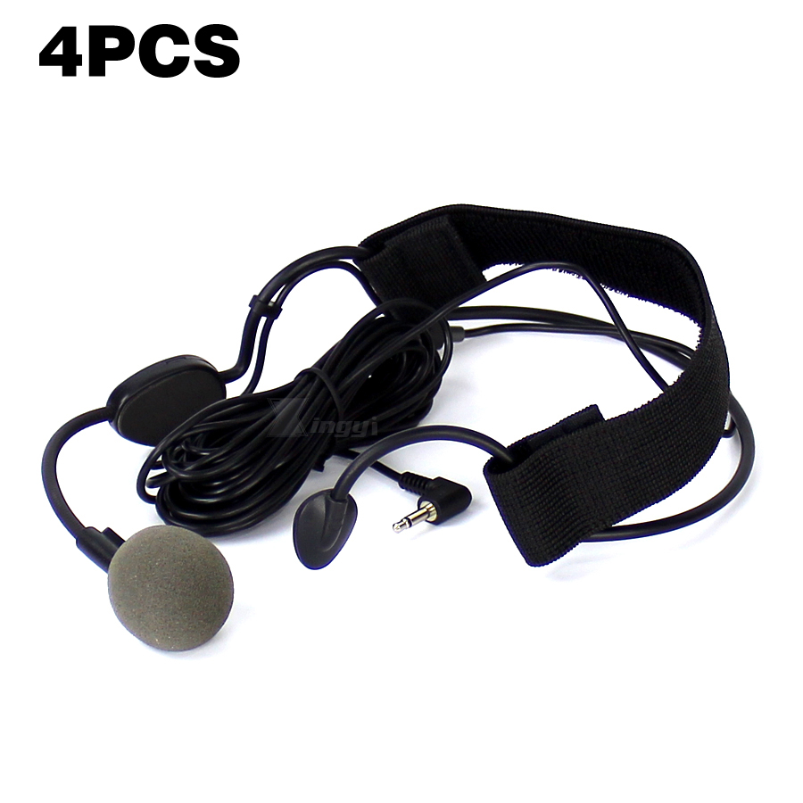 4PCS Professional Wired Dynamic Microphone 3.5mm Jack Headset Mic For WH20TQG Computer PC DSLR Camera Musical Instrument Speaker