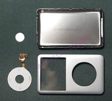 NEW Details about  Silver iPod classic back cover + front case+clickwheel kit replacement