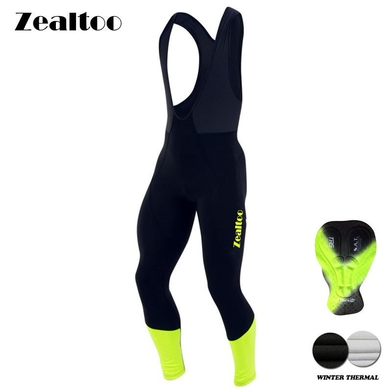 Zealtoo Warm 2018 Winter Thermal Fleece Cycling Long Bicycle Bib Pants 3D Gel Pad Bike Bib Tights Mtb Men Ropa Ciclismo боди piazza italia piazza italia pi022ewydw69 page 6