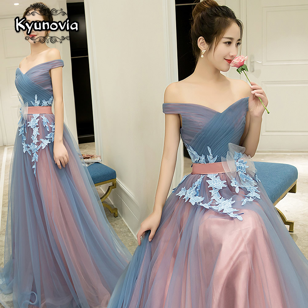 2 Styles Sleeveless Floor Length Prom Dress Lace Up Long Prom Dress Blue Strapless Evening Dress