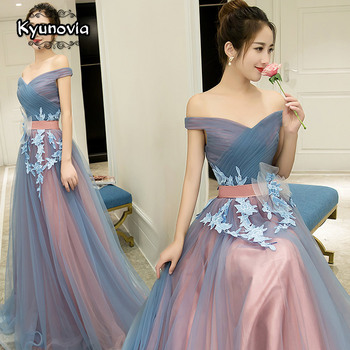 2 Styles Sleeveless Floor Length Prom Dress Lace Up Long Blue Strapless Evening Appliques Dresses FD29 - sale item Special Occasion Dresses