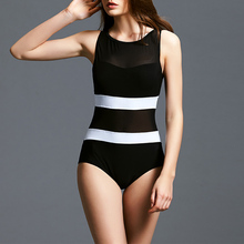 2018 Swimwear Women Conservative One Piece Swimsuit Net Yarn Bathing Suit Push Up Swim Wear Female Slimming Beach Wear