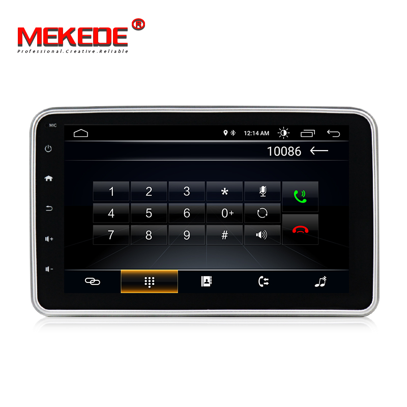 MEKEDE  Single 1 DIN 7 Android 8.0 Universal Car Radio Stereo Quad Core Head Unit GPS Navigation Support Steering Wheel