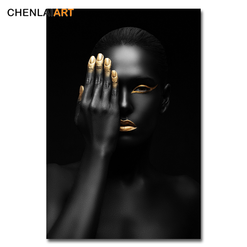 Canvas Prints Portray Fashionable Black Lady Mannequin Wall Artwork Poster And Prints Footage Dwelling Ornament For Residing Room No Body Portray & Calligraphy, Low cost Portray & Calligraphy, Canvas...