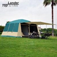 Супер большой кемпинг палатка Водонепроницаемый Семья 4 сезон 2 номер палатку кабины 210D Оксфорд двойной Слои 12 человек Открытый Кемпинг пал