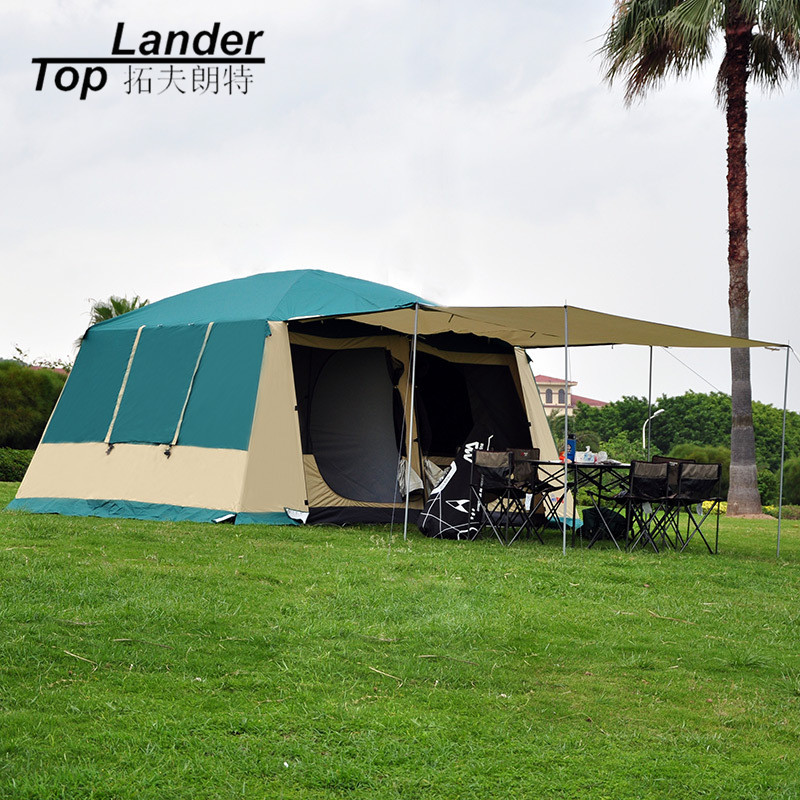 Super Large Camping Tent Waterproof Family 4 Season 2 Room Cabin Tent 210D Oxford Double Layer 12 Person Outdoor Camping Tent 210d oxford cloth outdoor camping tent special design tent double layer camping hiking tents for family camping travel