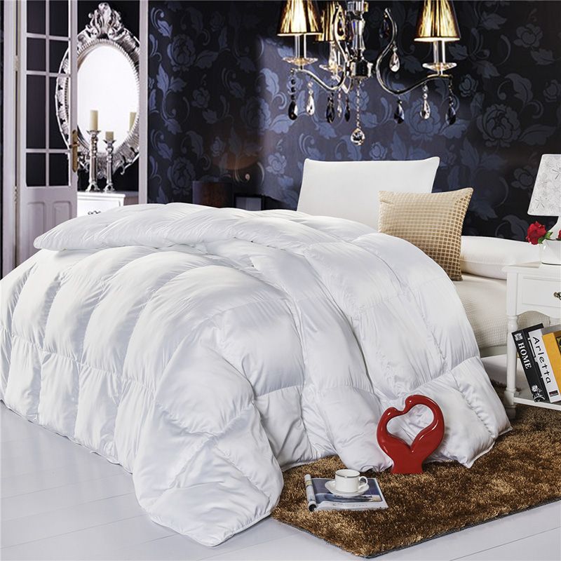 2015 white goose down comforter winter quilts high quality fabric warm duvet for full queen king. Black Bedroom Furniture Sets. Home Design Ideas