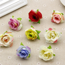 100pcs/bag Rose Flower Heads artificial flowers Colorful Silk Flowers Romantic flower wall fashion Wedding car Decoration